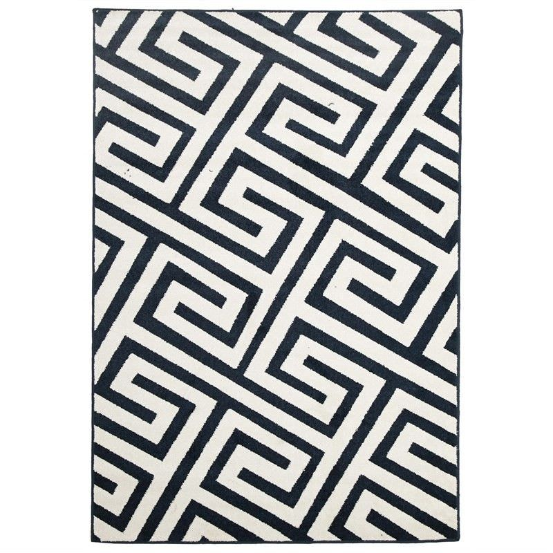 Dolce Egyptian Made Indoor/Outdoor Rug in Navy - 330x240cm