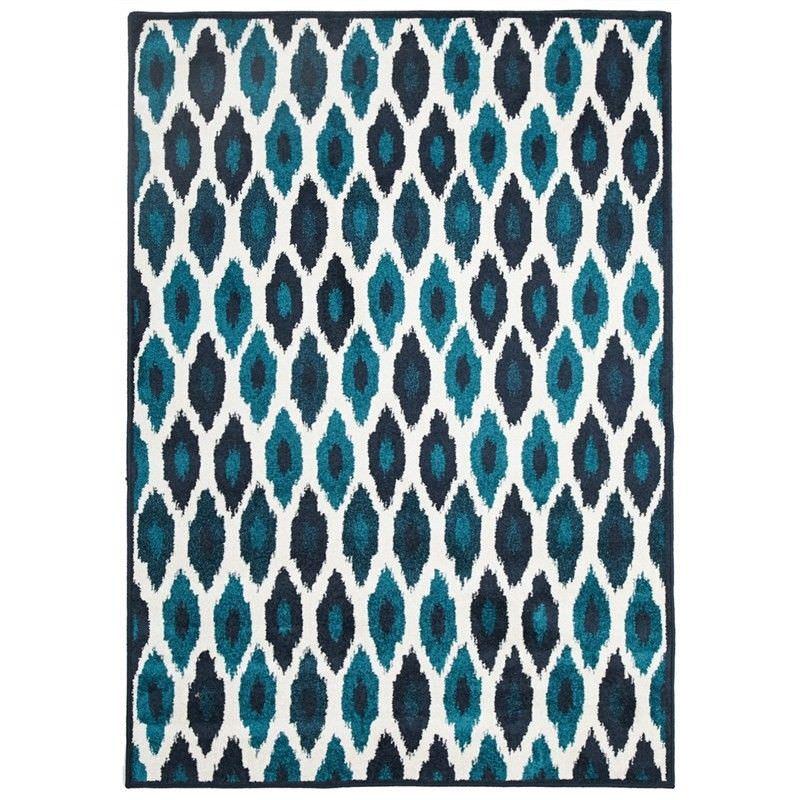 York Egyptian Made Indoor/Outdoor Rug in Blue - 330x240cm