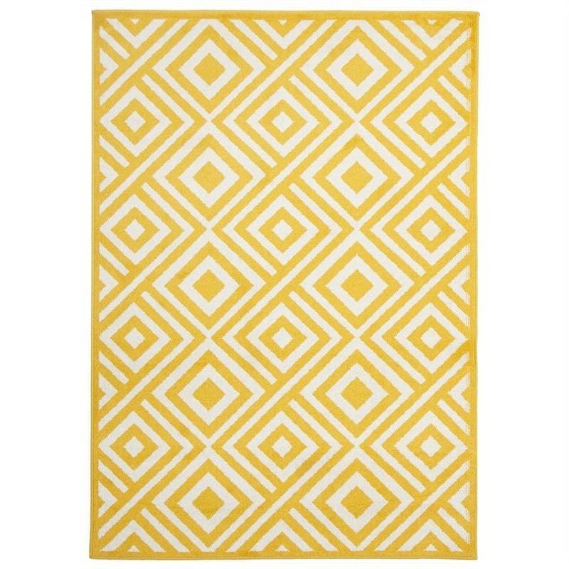 Matrix Egyptian Made Indoor/Outdoor Rug in Yellow - 290x200cm