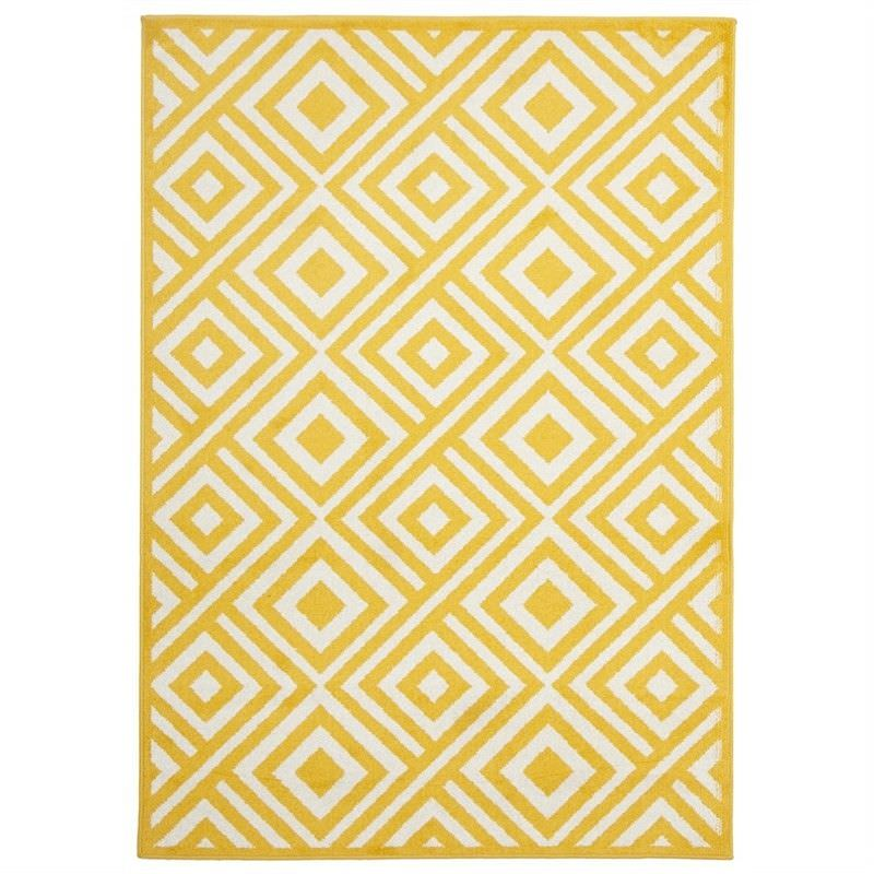 Matrix Egyptian Made Indoor/Outdoor Rug in Yellow - 330x240cm