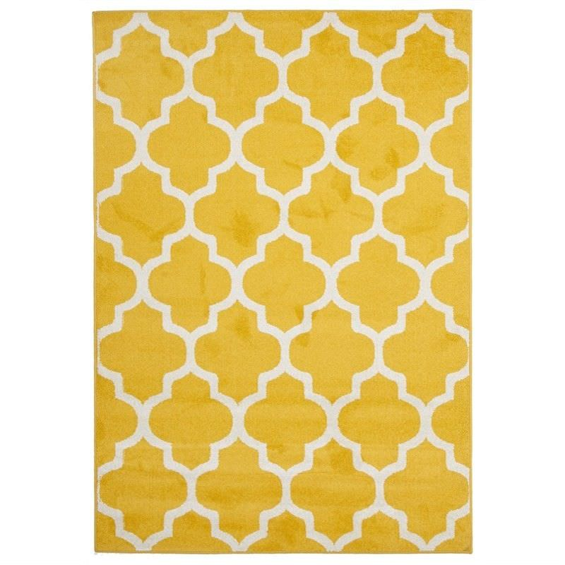 Morocco Egyptian Made Indoor/Outdoor Rug in Yellow - 230x160cm