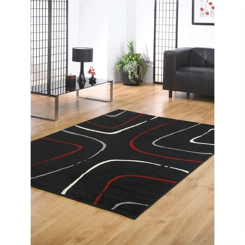 Turkish Made Contemporary Festival Java Rug in Black - 190x280cm