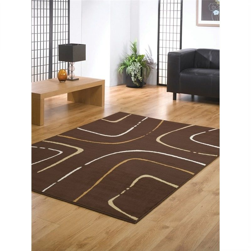 Turkish Made Contemporary Festival Java Rug in Brown - 160x230cm
