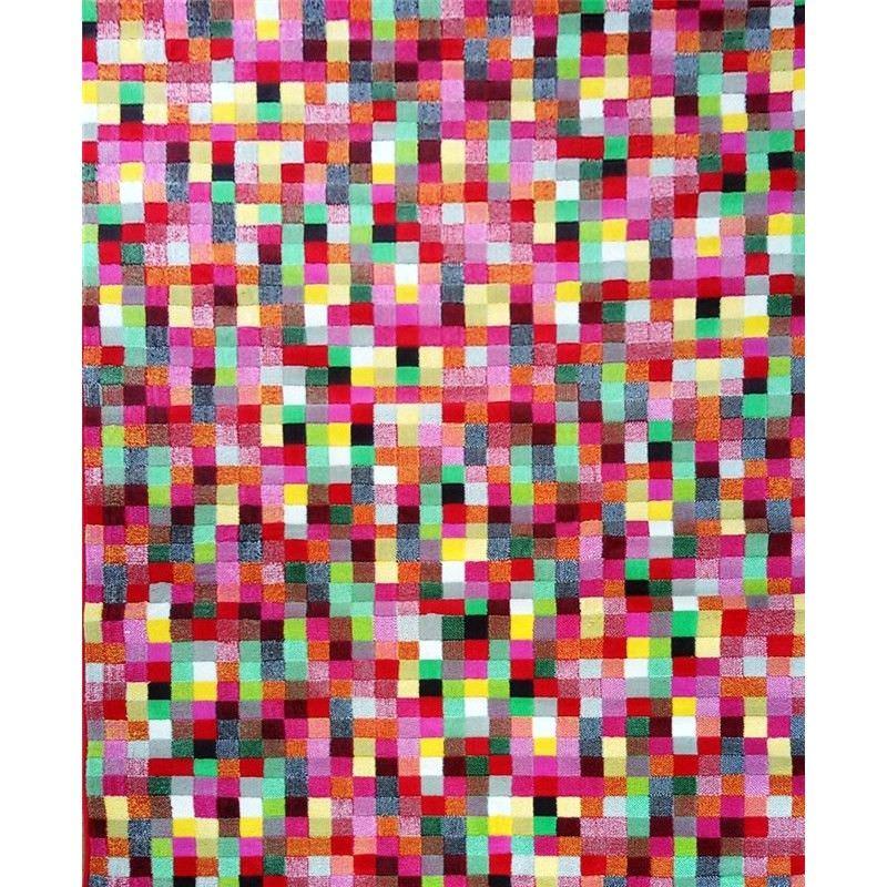 Turkish Made Trendy Retro Multicoloured Pixel Rug - 160x225cmcm