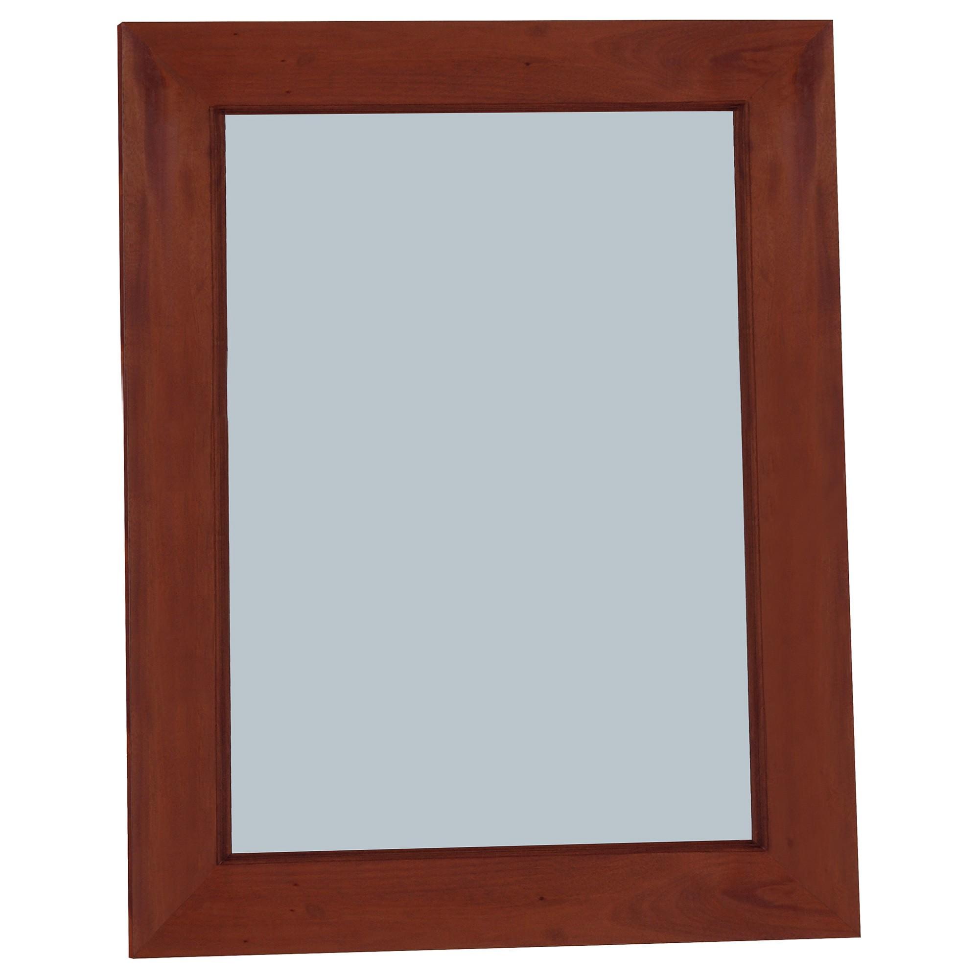 Colin Mahogany Timber Frame Wall Mirror, 90cm, Mahogany