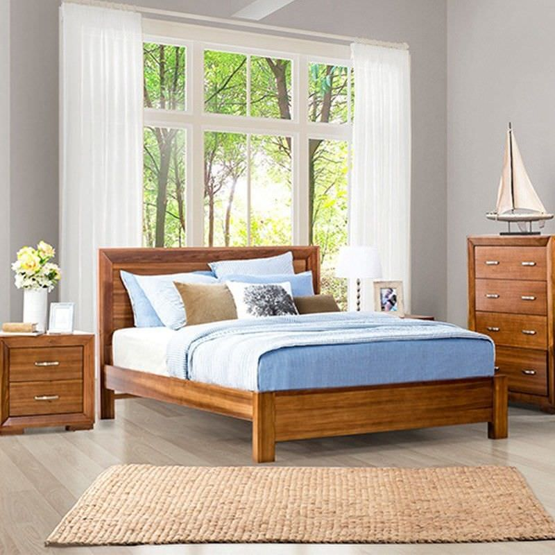Lipton Solid Blackwood Timber King Bed