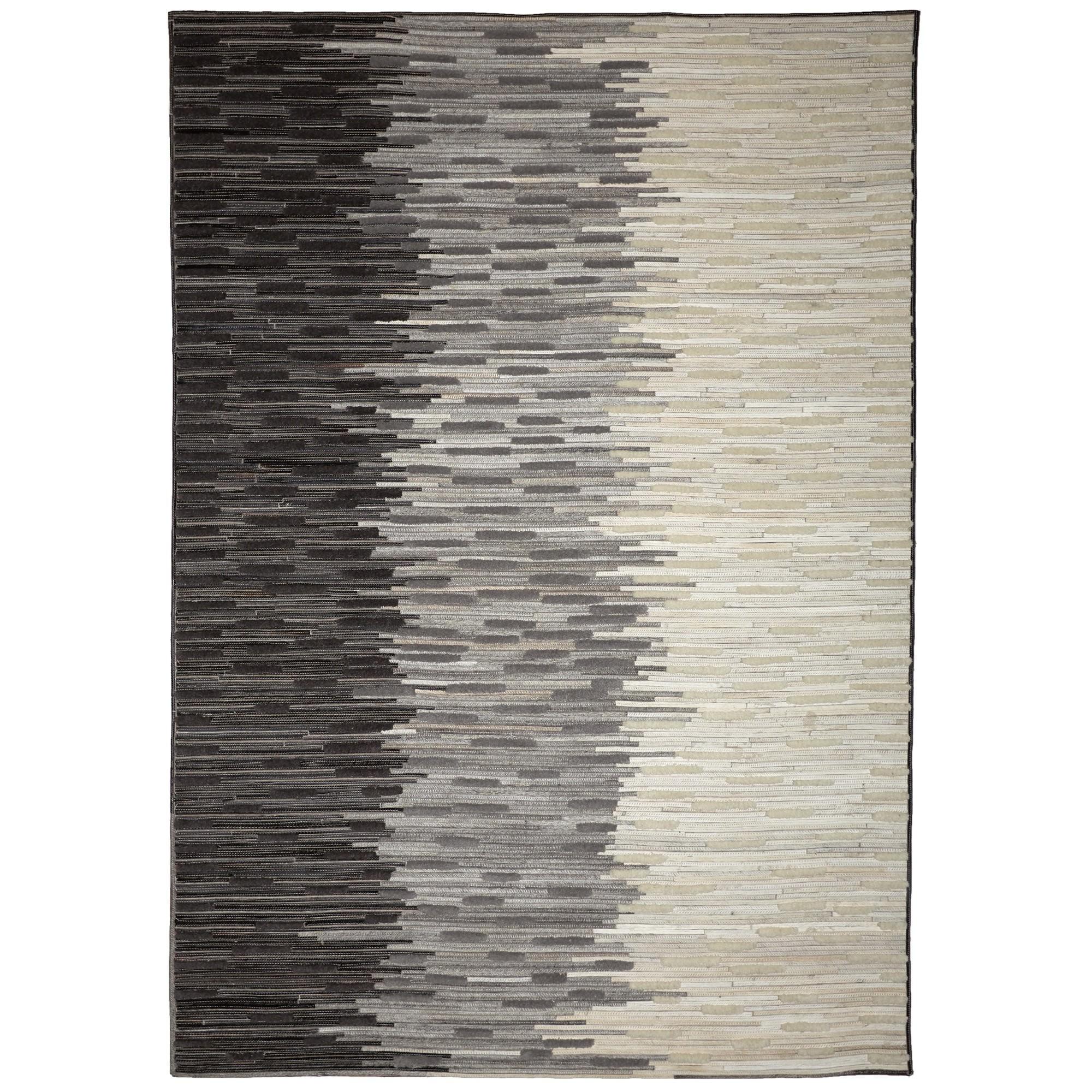 Mosaics No.400 Hide Leather Rug, 290x200cm