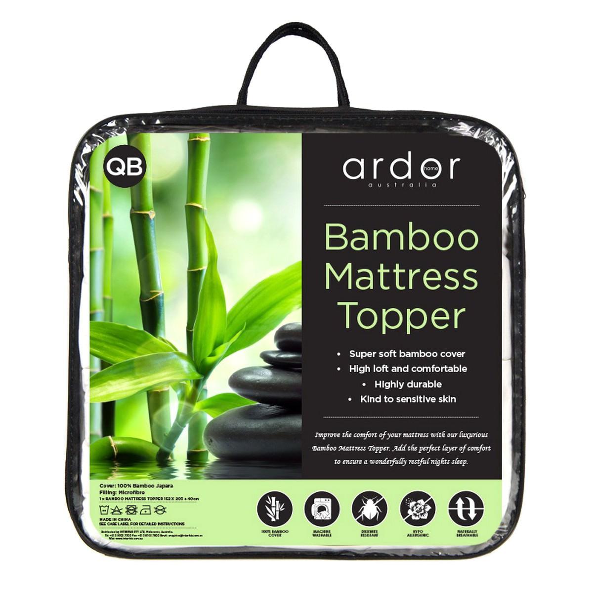 Ardor Bamboo Mattress Topper, King