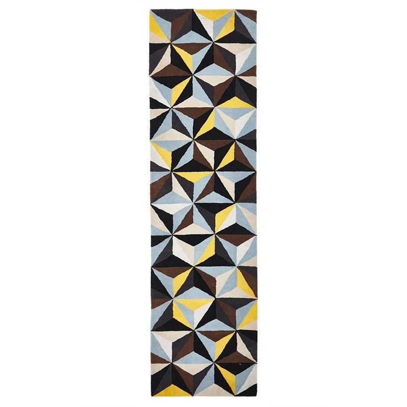 Crystal Designer Hand Tufted Wool Runner Rug - 300x80cm