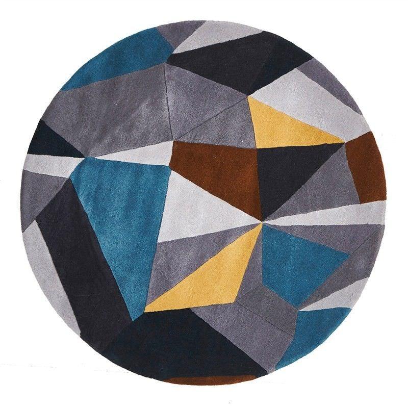 Laura Designer Hand Tufted 150cm Round Wool Rug