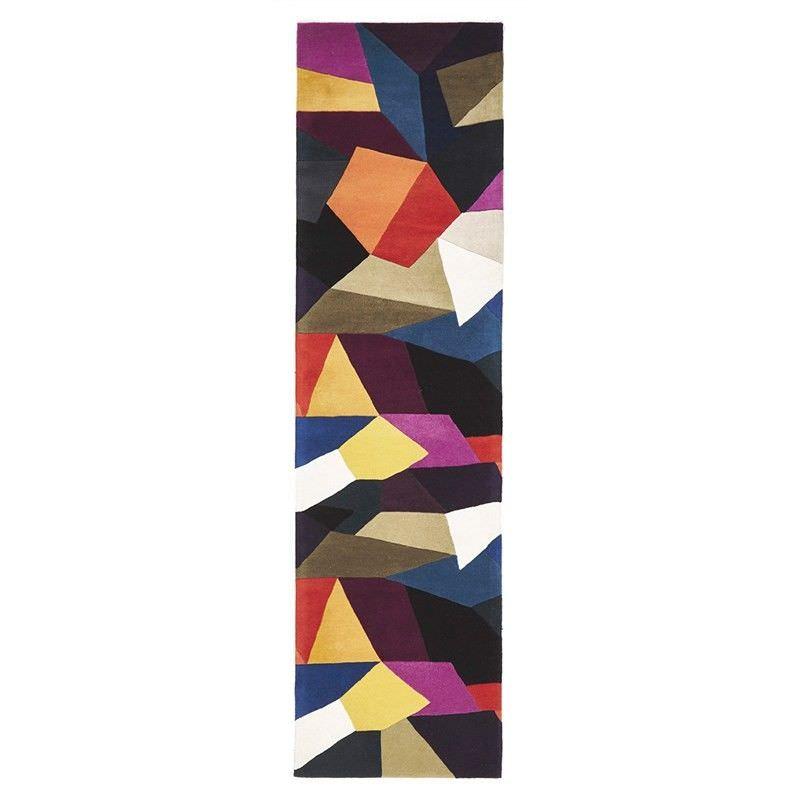 Eclectic Designer Hand Tufted Wool Runner Rug - 400x80cm