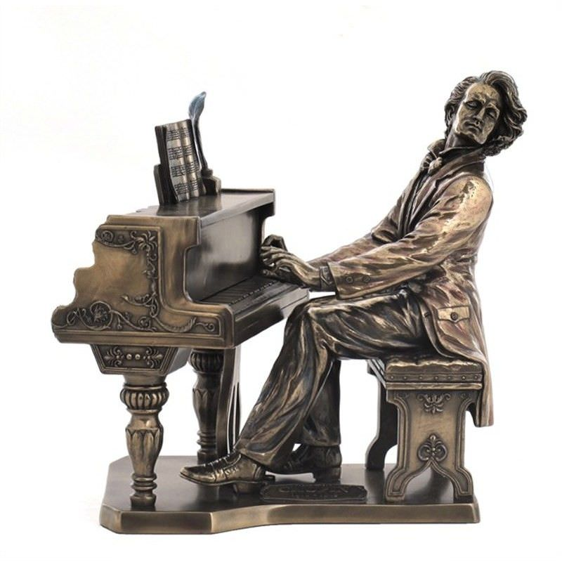 Cast Bronze Musician Figurine, Chopin