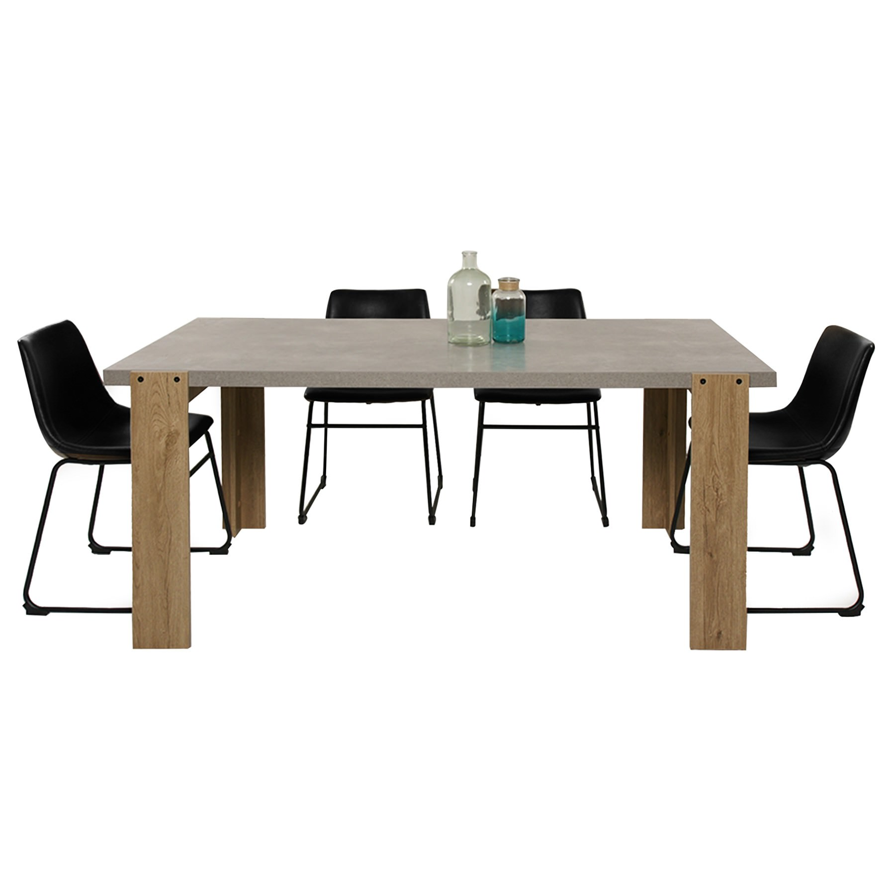 Munich 7 Piece Dining Table Set, 180cm, with Perry Chair