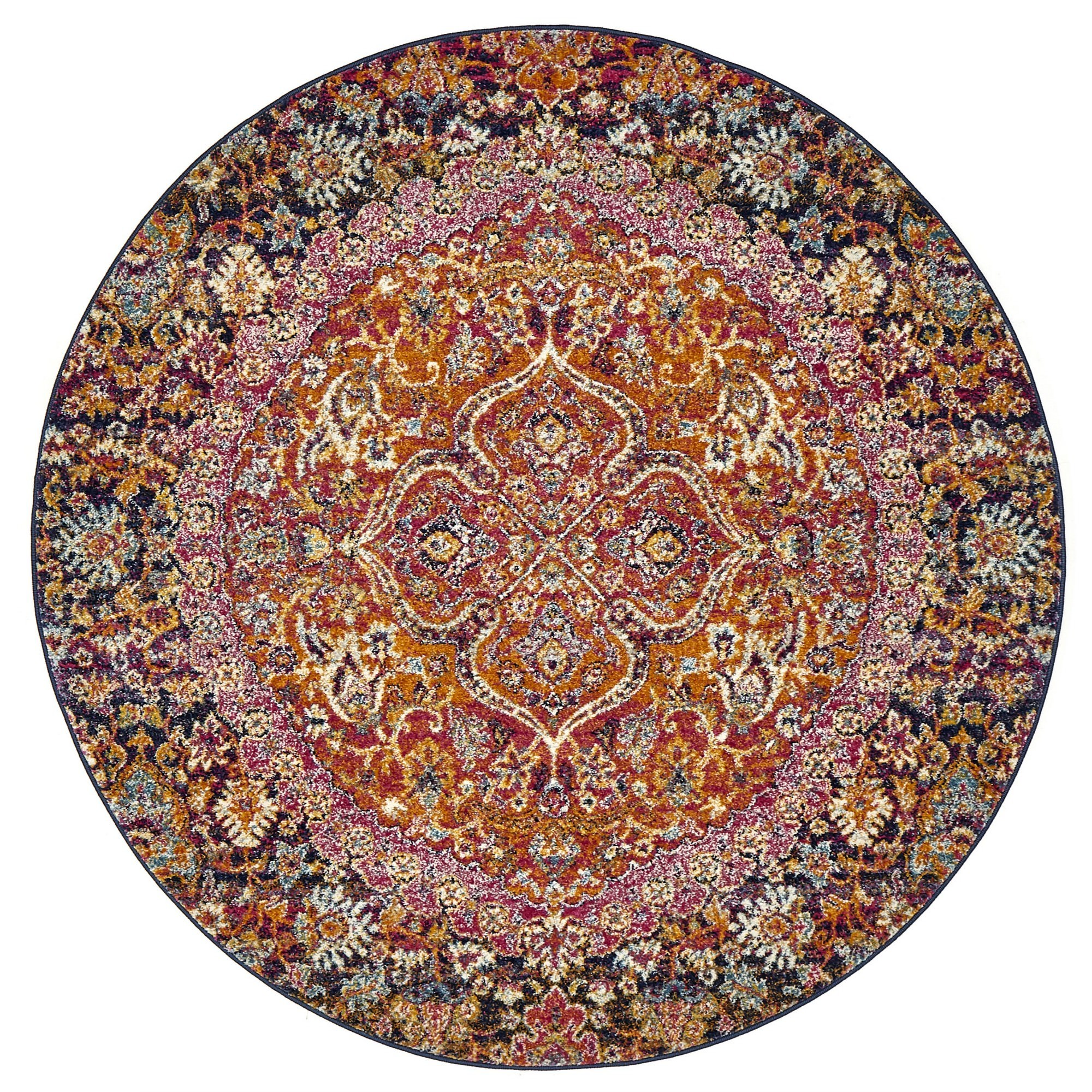 Museum Everleigh Transitional Round Rug, 200cm, Multi