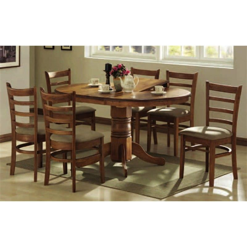 Mustang 5 pce Extension Dining Set in Antique Oak