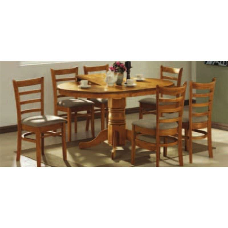 Mustang 5 pce Extension Dining Set in Umber