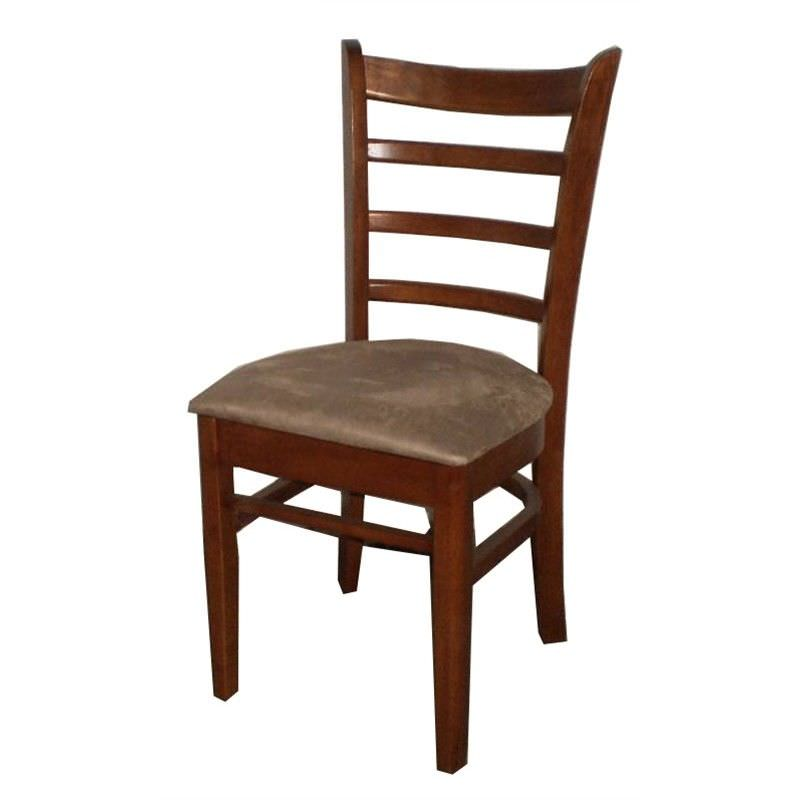 Mustang Solid Timber Dining Chair with Cushion Seat - Antique Oak