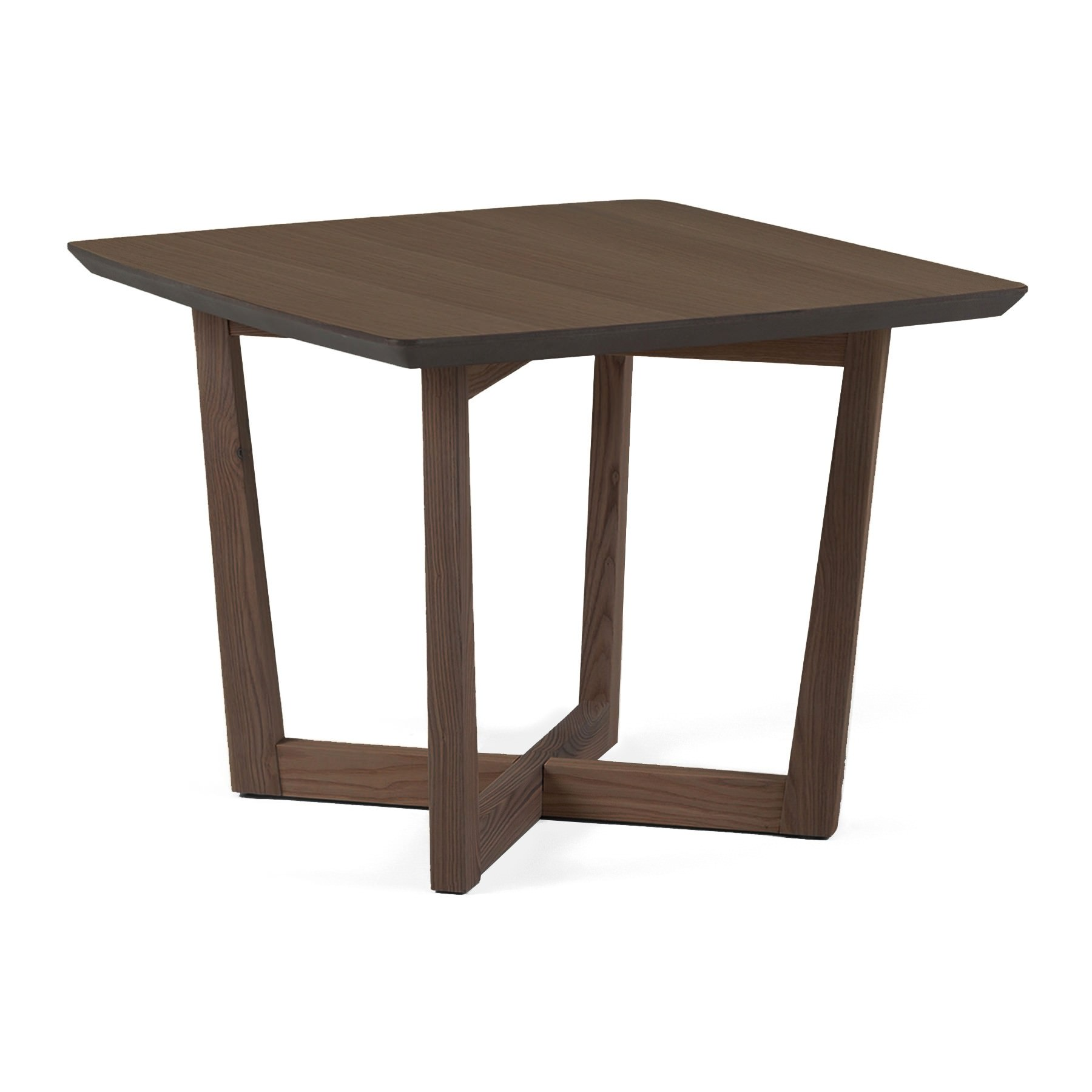 Muto Wooden Square Lamp Table, Walnut