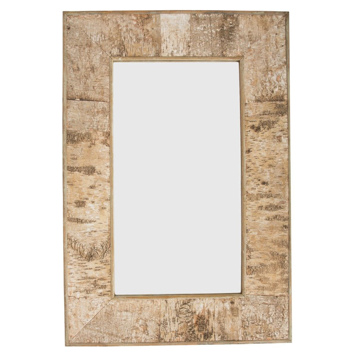 Burford Birch Bark Frame Rectangular Wall Mirror, 120cm