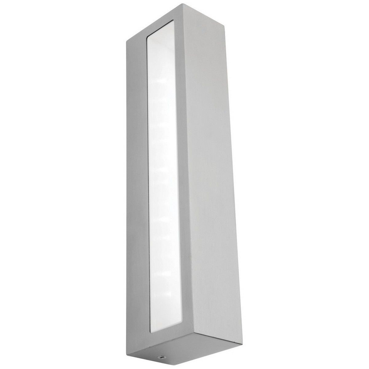 Somers IP54 LED Outdoor Wall Light, Large, Silver