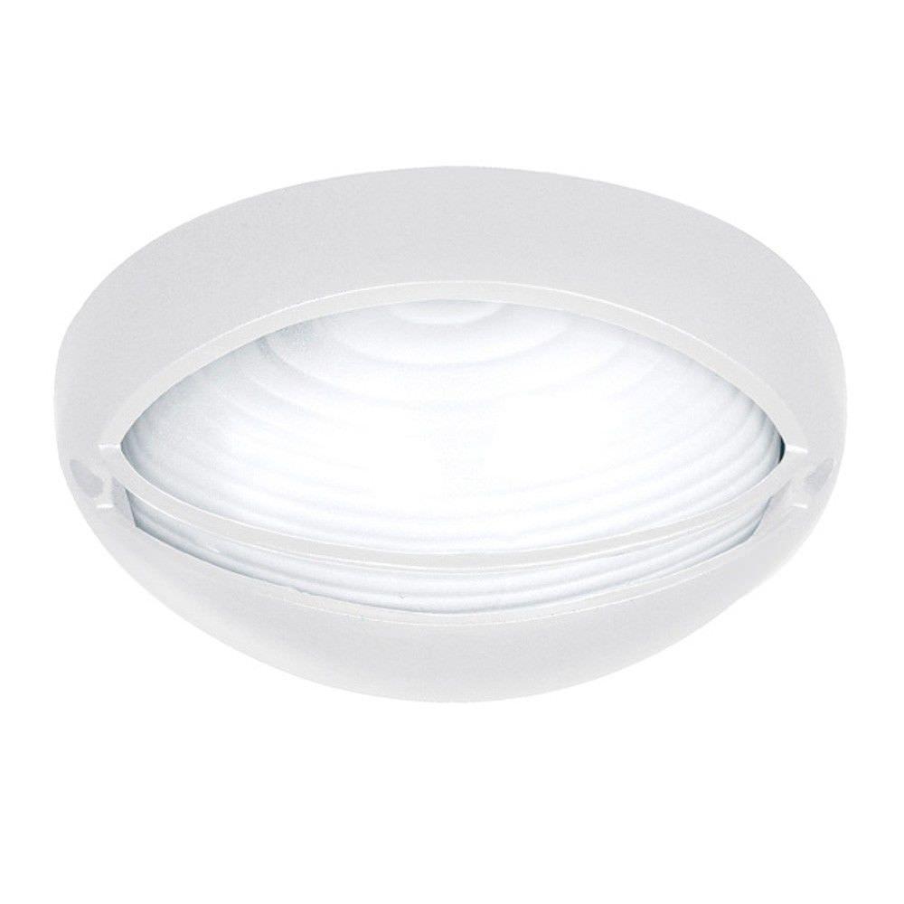 Fiore IP54 Oval Outdoor Eyelid Bunker Light, White