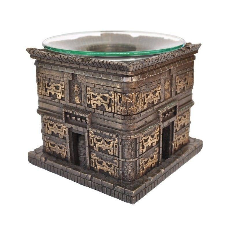 Cast Bronze Maya Architecture Attar Burner