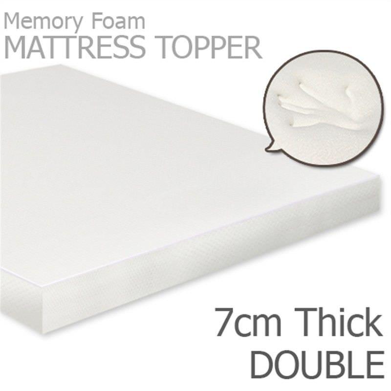 Visco Elastic Memory Foam Mattress Topper, 7cm Thickness, Double