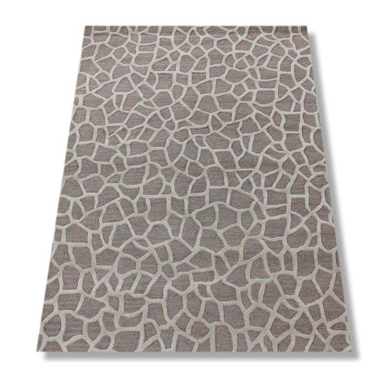 Montage Hand Tufted Wool Rug, 160x230cm, Giraffe Taupe