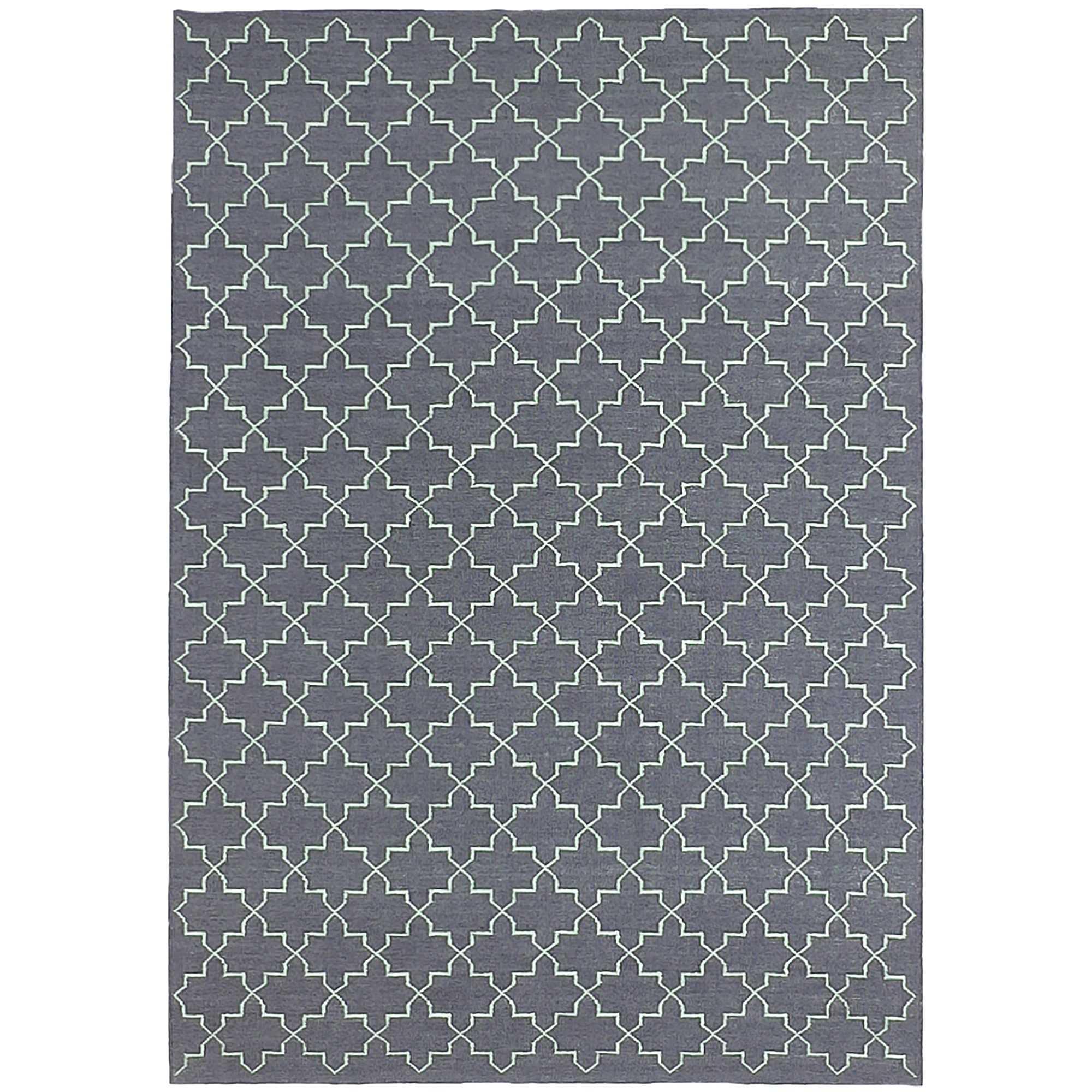 Moroc Hand Woven Wool Rug, 160x230cm, Grey