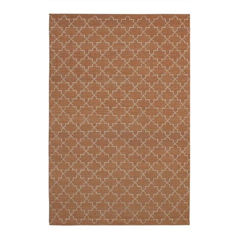 Moroc Hand Woven Wool Rug, 250x350cm, Orange