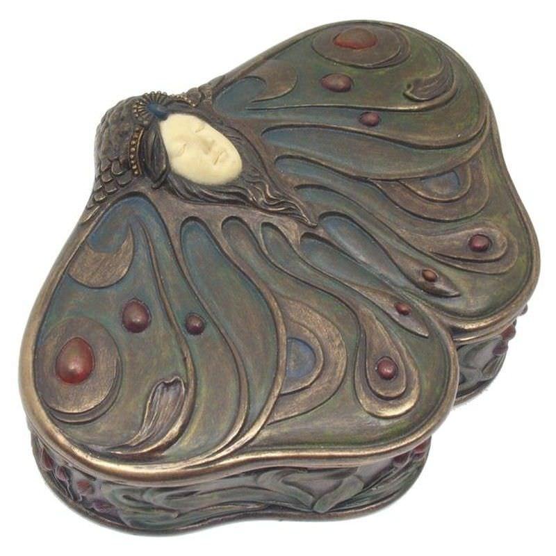 Cast Bronze Princess Butterfly Jewellery Box
