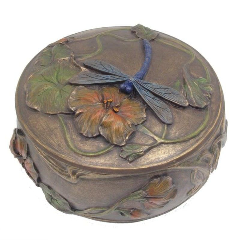Cast Bronze Dragonfly Trinket Box
