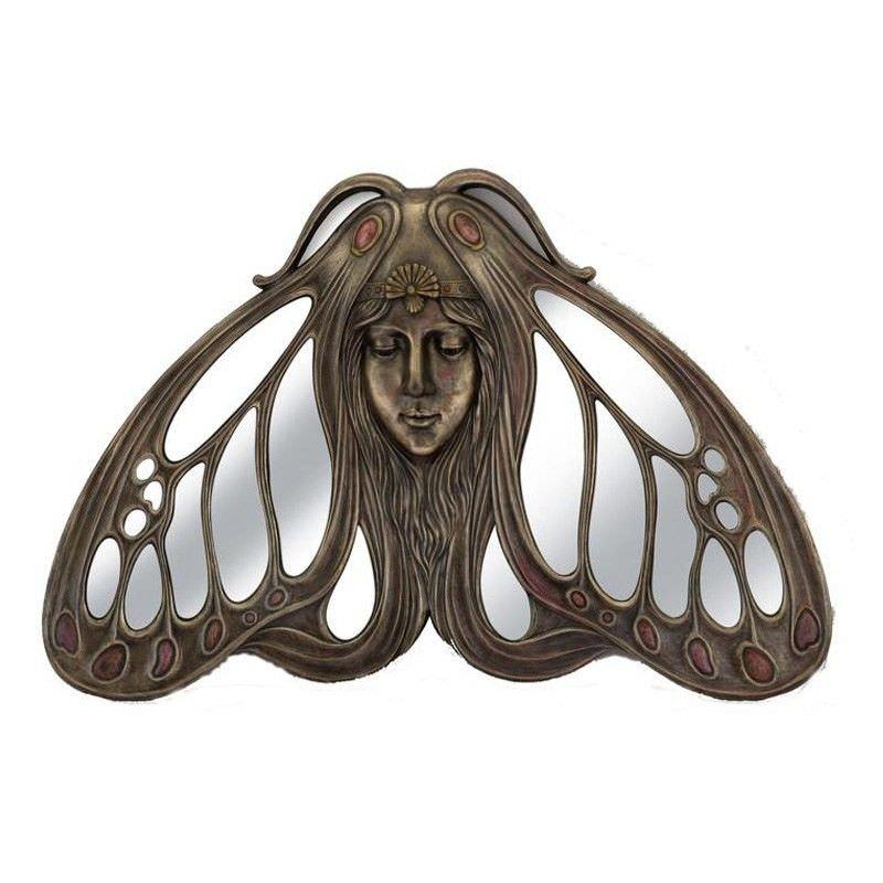 Princess Butterfly Cast Bronze Frame Wall Mirror