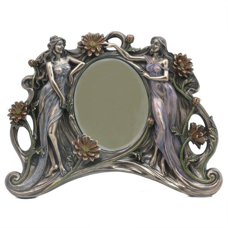 Twin Ladies Table Mirror