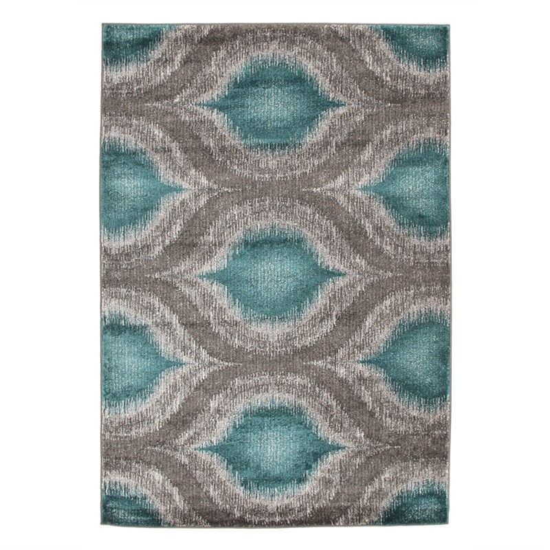 Lucid Dream Modern Rug in Turquoise - 230x160cm