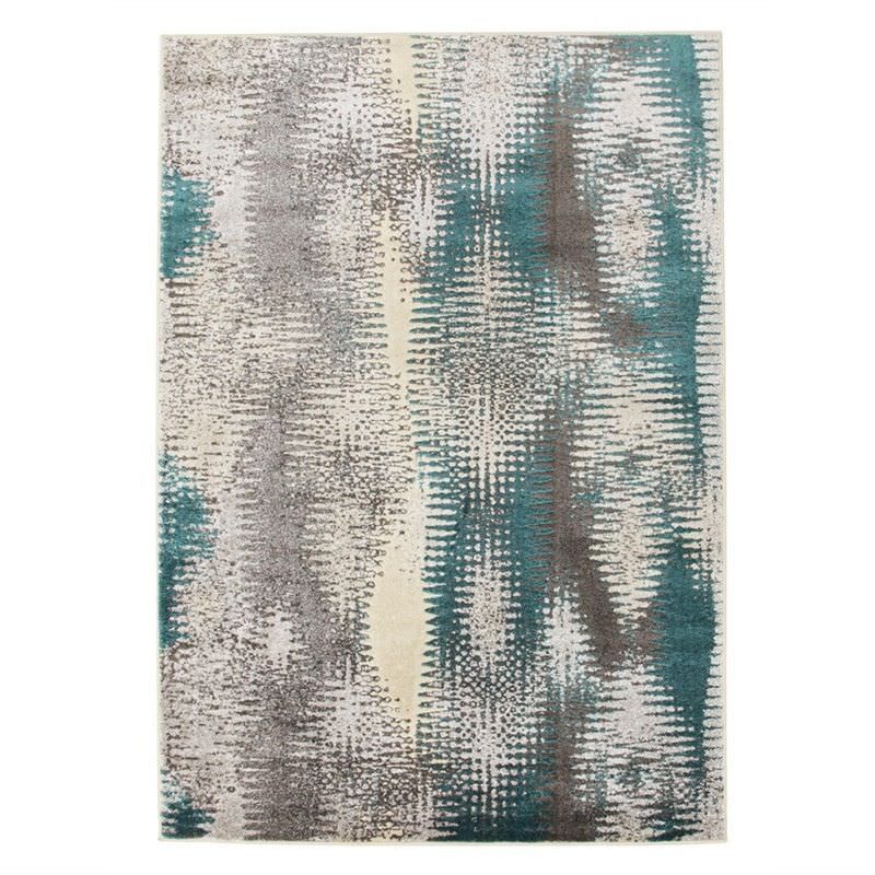 Hannah Matrix Rug in Blue - 330x240cm