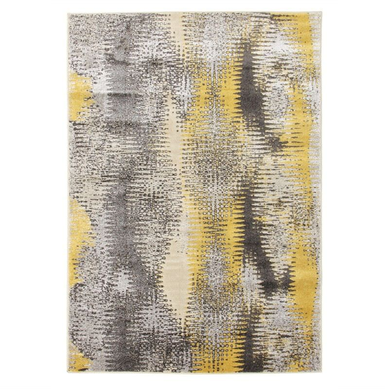 Hannah Matrix Rug in Yellow - 290x200cm
