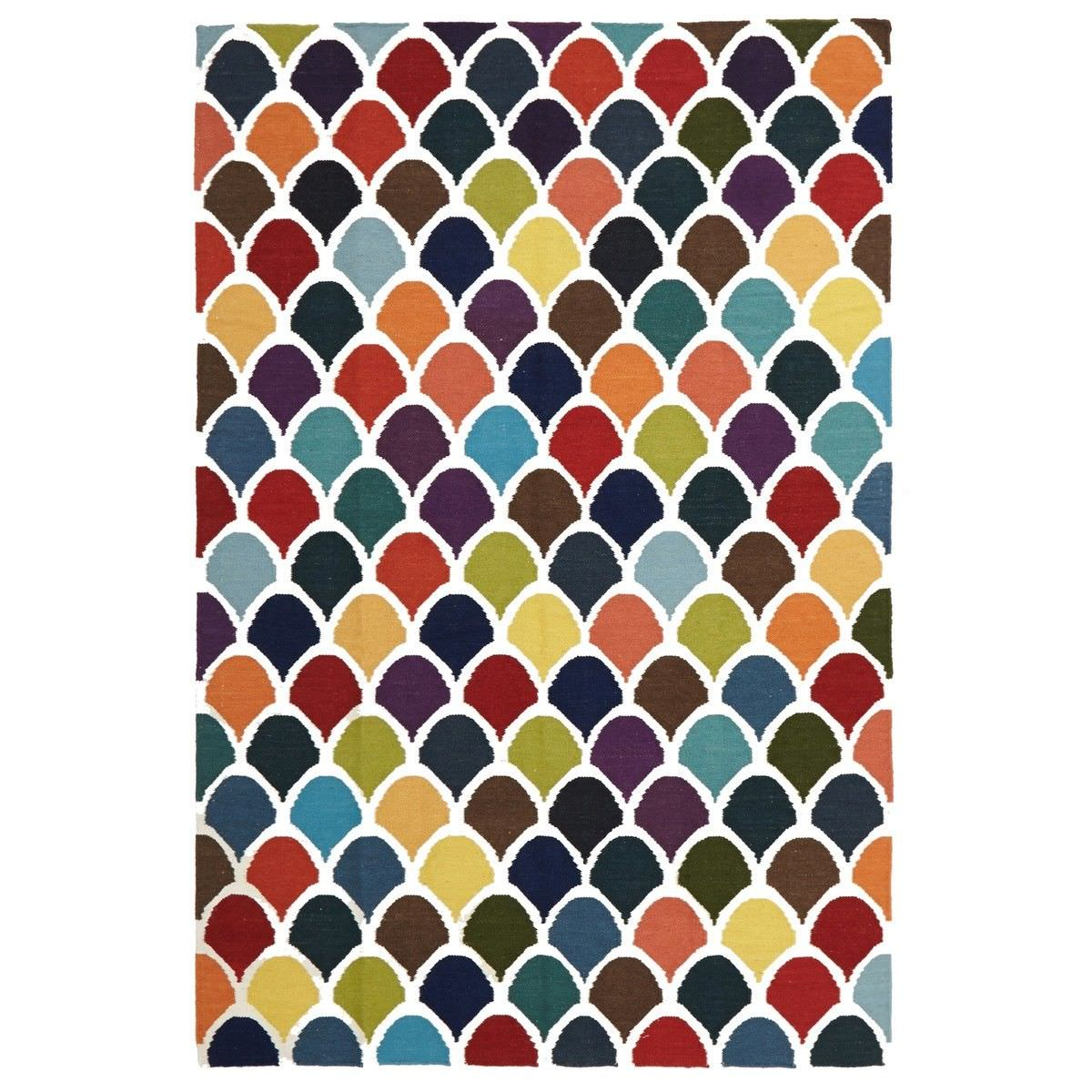 Nomad Scales Flat Woven Wool Rug, 280x190cm, Multi