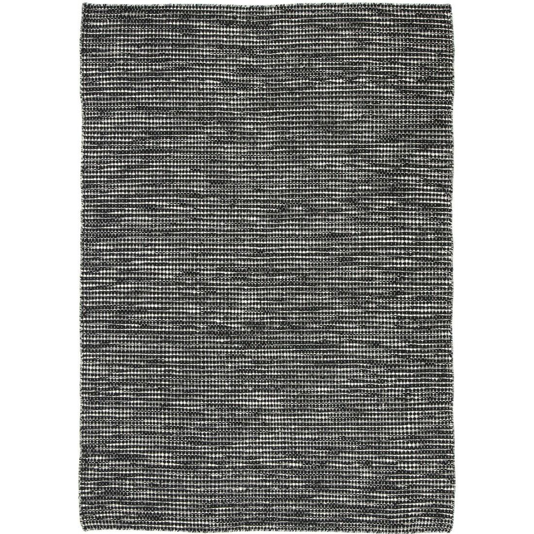 Scandi Reversible Wool Rug, 240x330cm, Black / White
