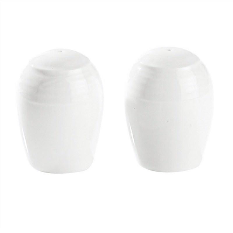Noritake Arctic White Fine China Salt and Pepper Shaker Set