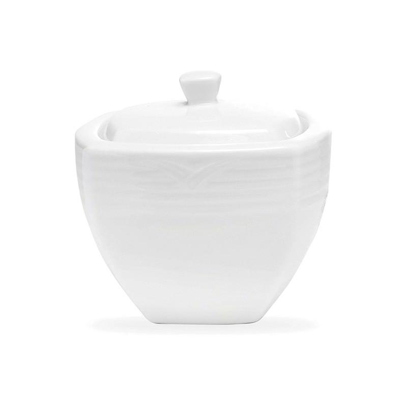 Noritake Arctic White Fine China Square Sugar Bowl