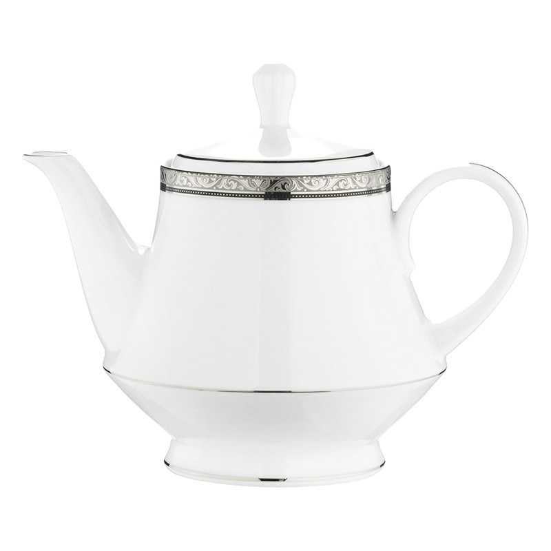 Noritake Regent Platinum Fine China Tea Pot