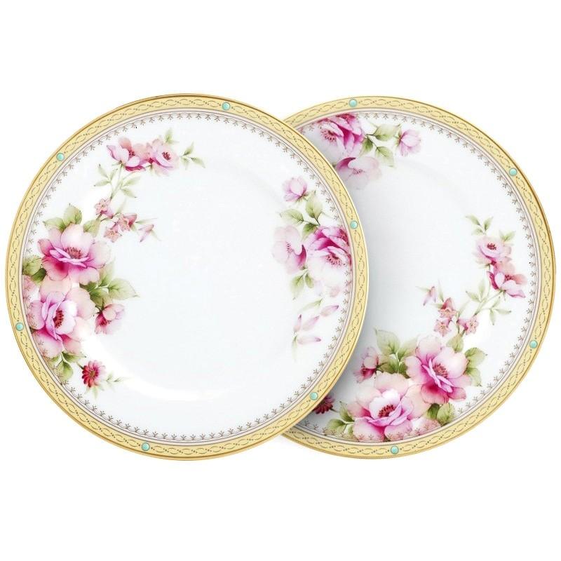 Noritake Hertford  Set of 2 Bone China 17cm Plates