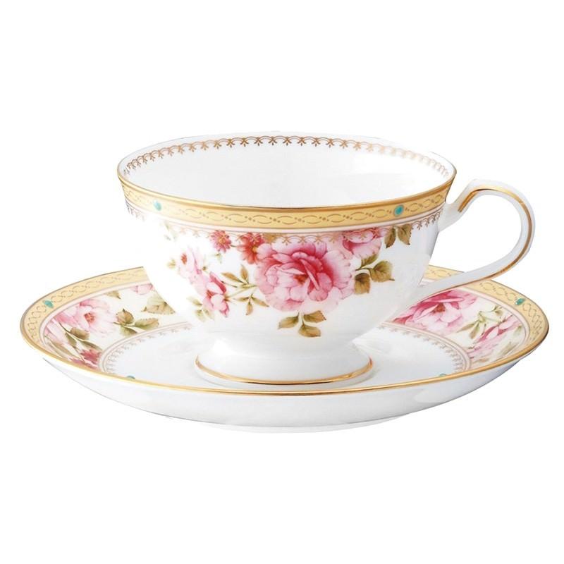 Noritake Hertford Bone China Cup & Saucer Set