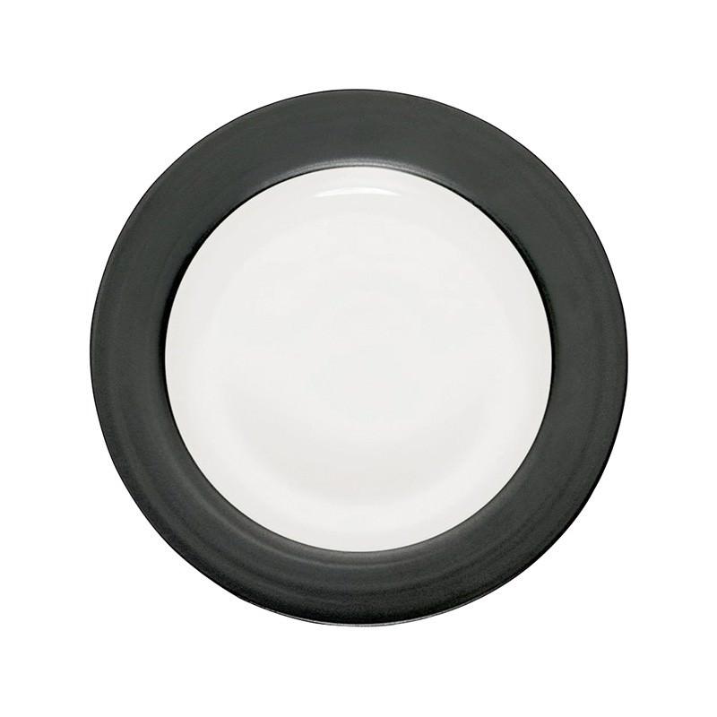 Noritake Colorwave Graphite Rim Dinner Plate