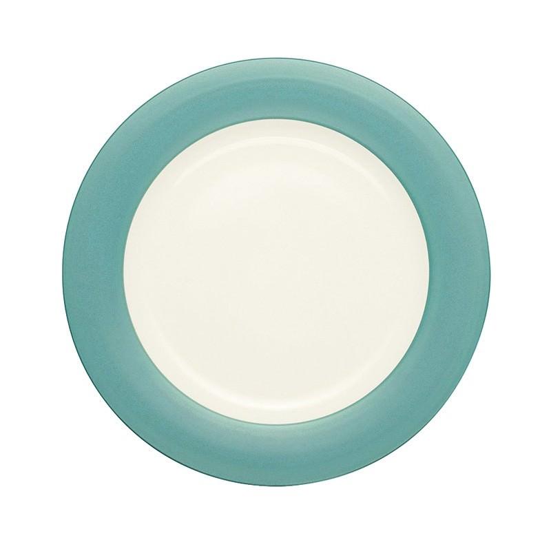 Noritake Colorwave Turquoise Rim Dinner Plate