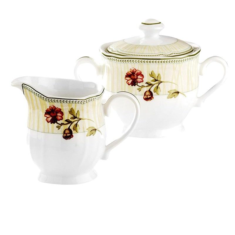 Noritake Fleur De Provence Porcelain Sugar and Creamer Set