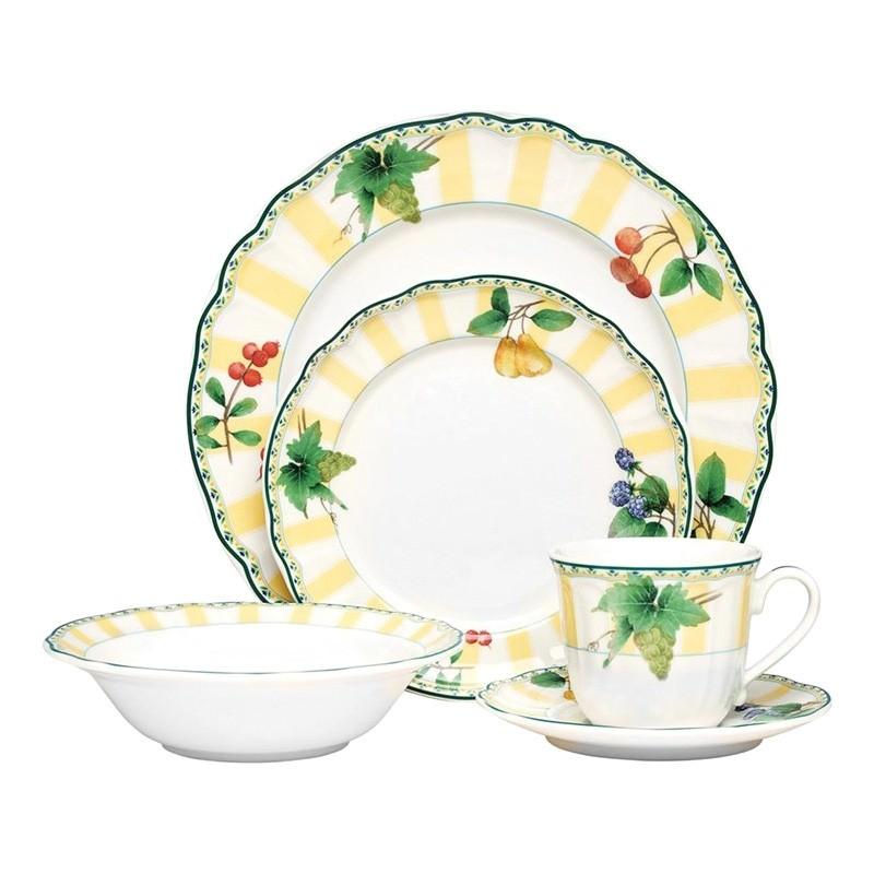 Noritake Orchard Valley Porcelain 20 Piece Dinner Set