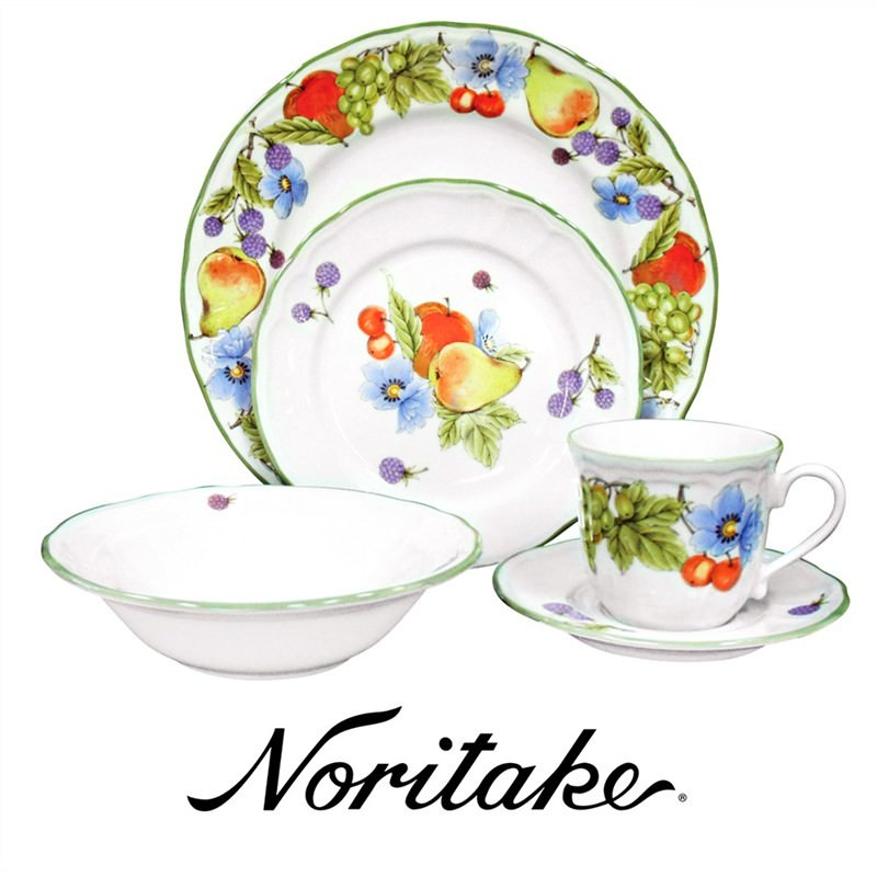 Noritake Autumn Fruits 20 Piece Porcelain Dinner Set
