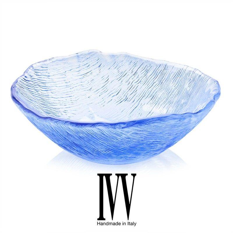 IVV Glacier Bouquet Glass Bowl - Periwinkle
